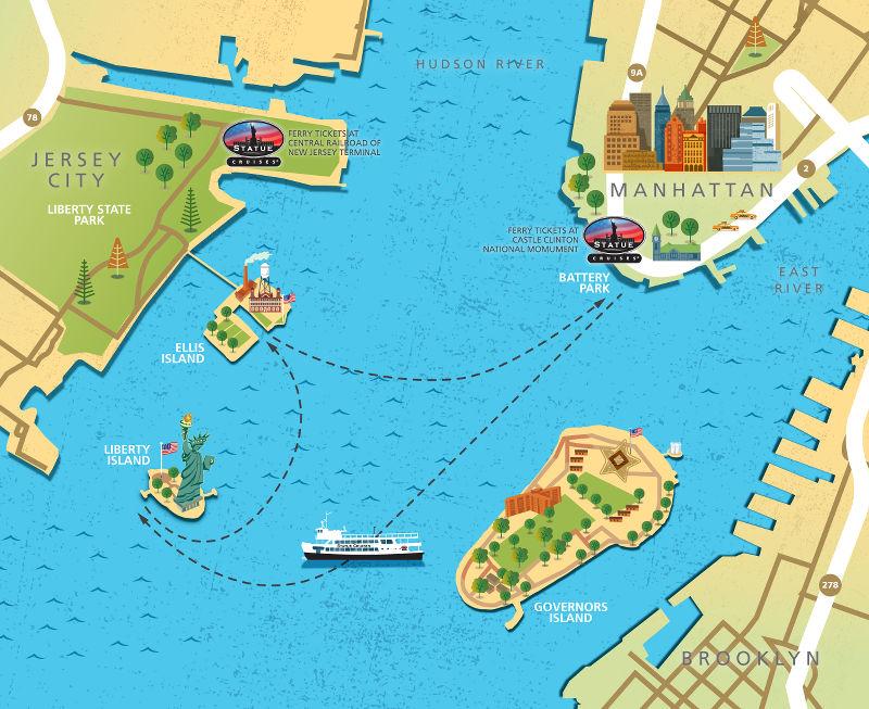 Barco Estátua da Liberdade de Manhattan